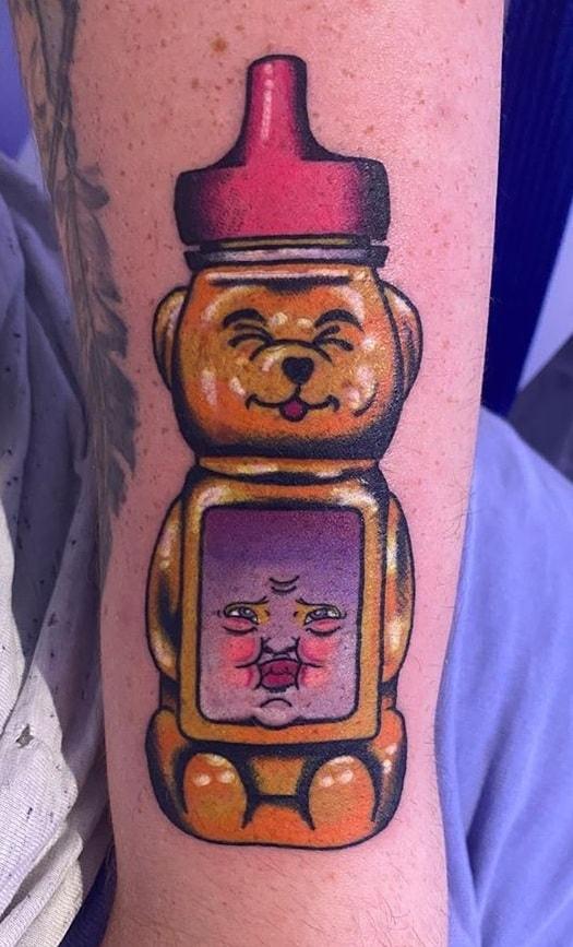 Honey Bear Tattoo
