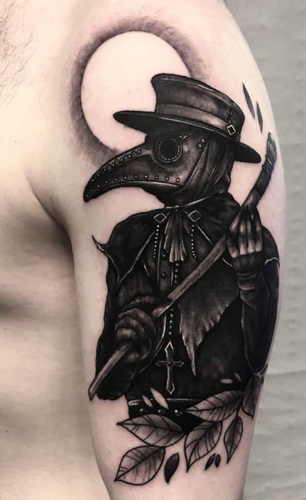 Horror Plague Doctor Tattoo