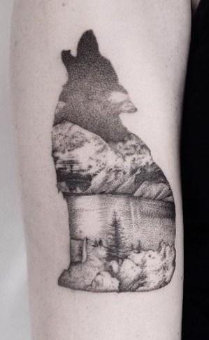 Howling Wolf Tattoo