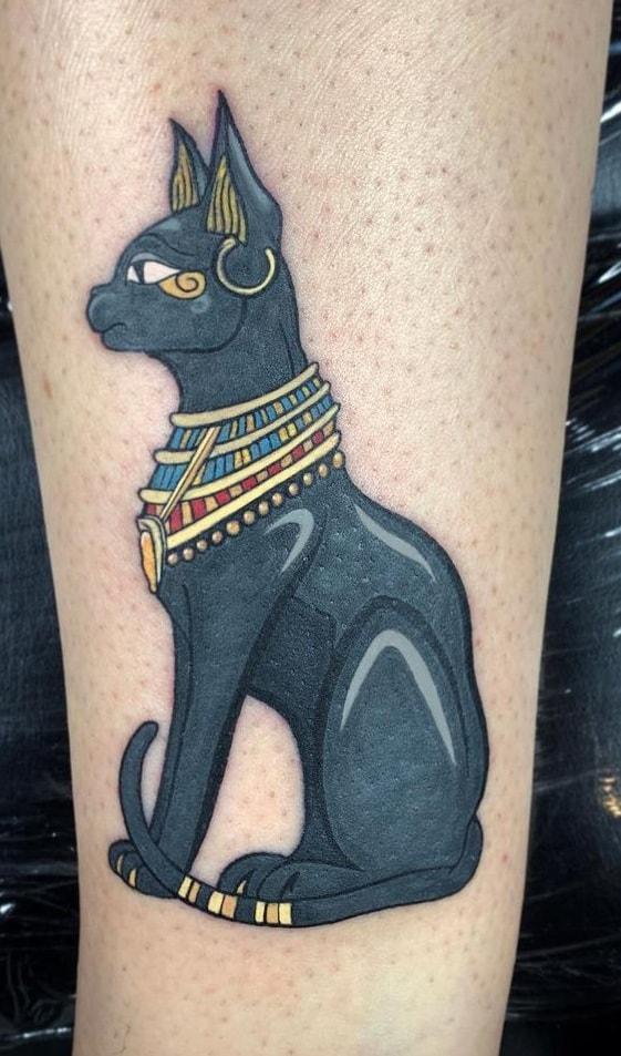 Illustrative Bastet Tattoo