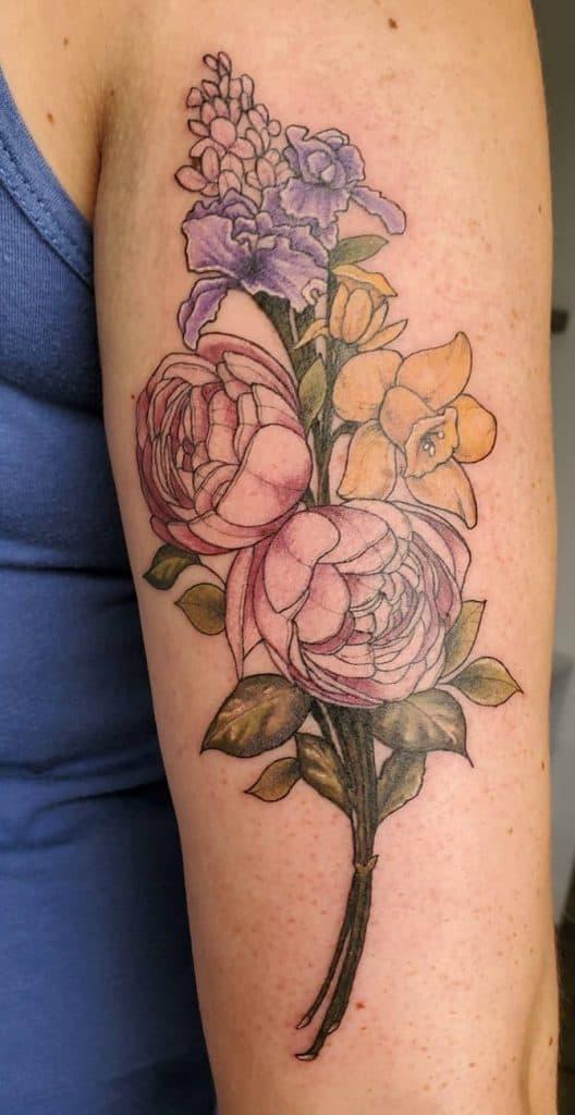 Illustrative Daffodil Tattoo