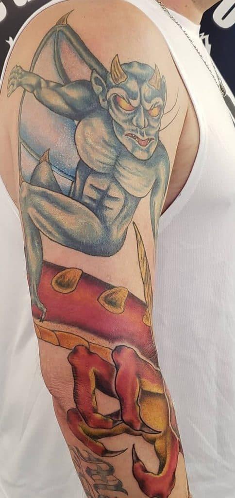 Illustrative Gargoyle Tattoo