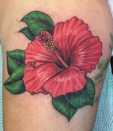 Illustrative Hibiscus Tattoo