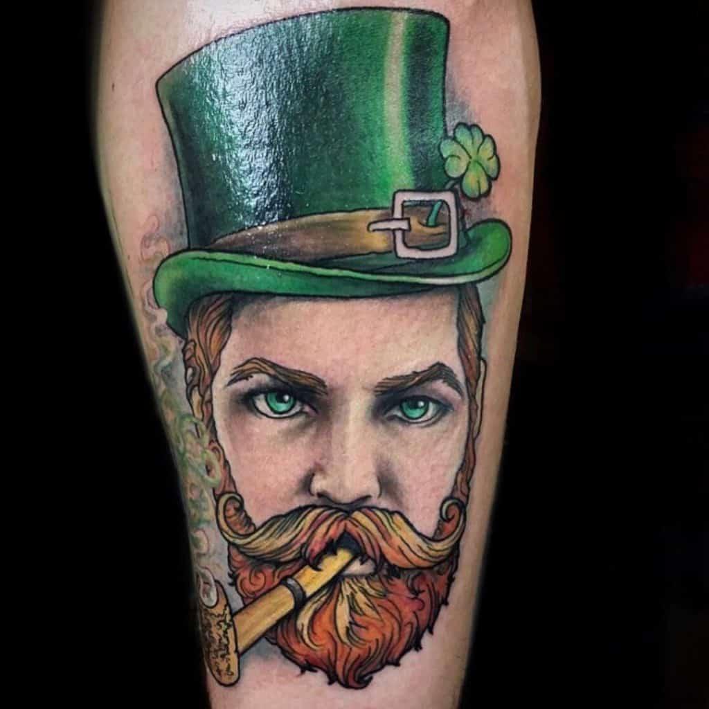 Illustrative Leprechaun Tattoo