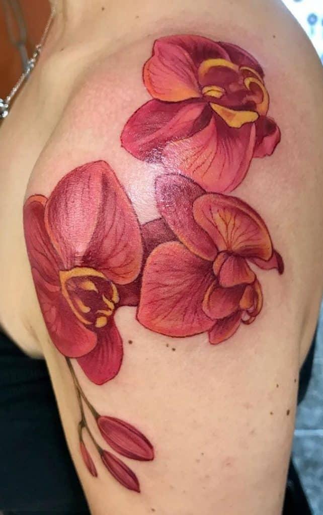 Illustrative Orchid Tattoo