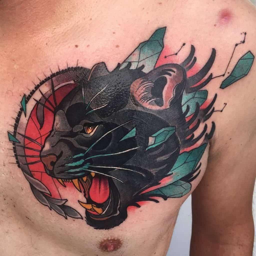 Illustrative Panther Tattoo