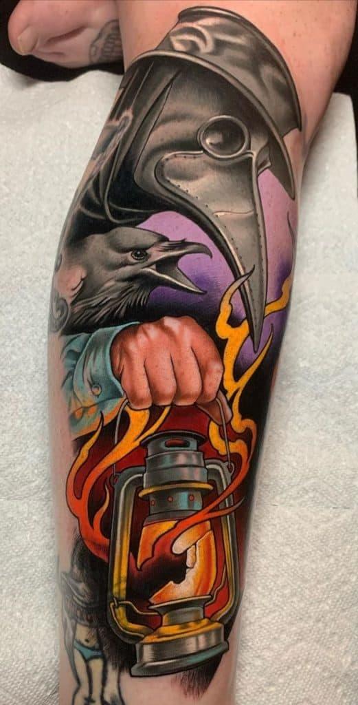 Illustrative Plague Doctor Tattoo