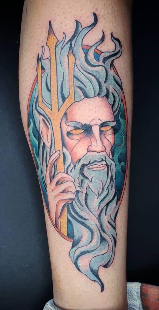 Illustrative Poseidon Tattoo