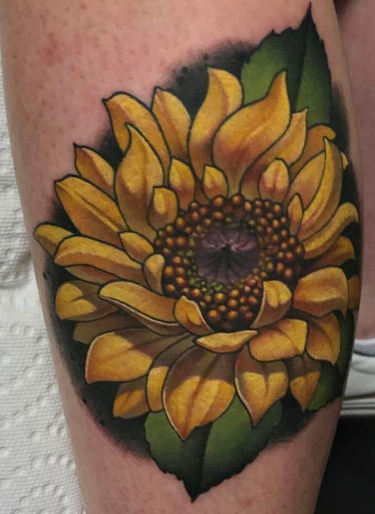 Illustrative Sunflower Tattoo