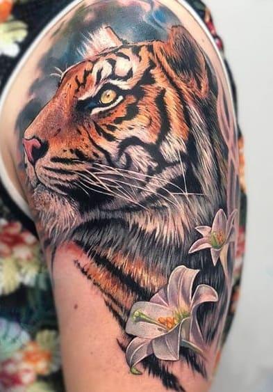 Illustrative Tiger Tattoo