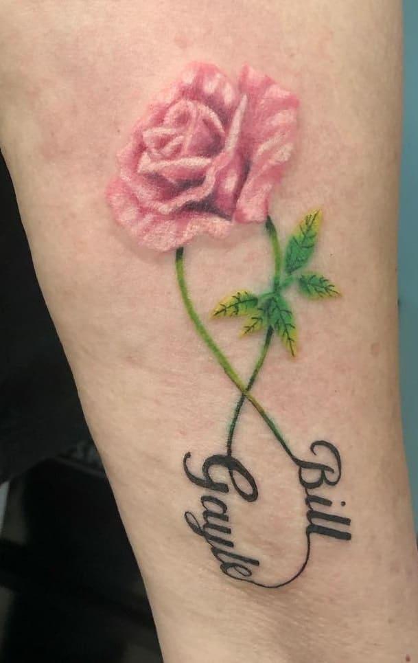 Infinity Rose Tattoo