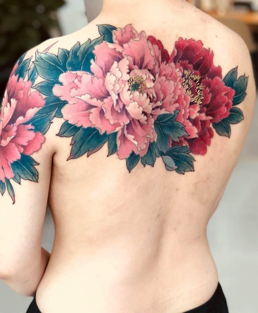 Japanese Peony Tattoo