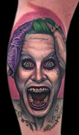 Jared Leto Joker Tattoo
