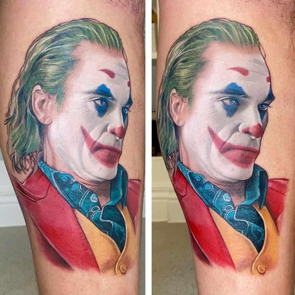 Joaquin Phoenix Joker Tattoo