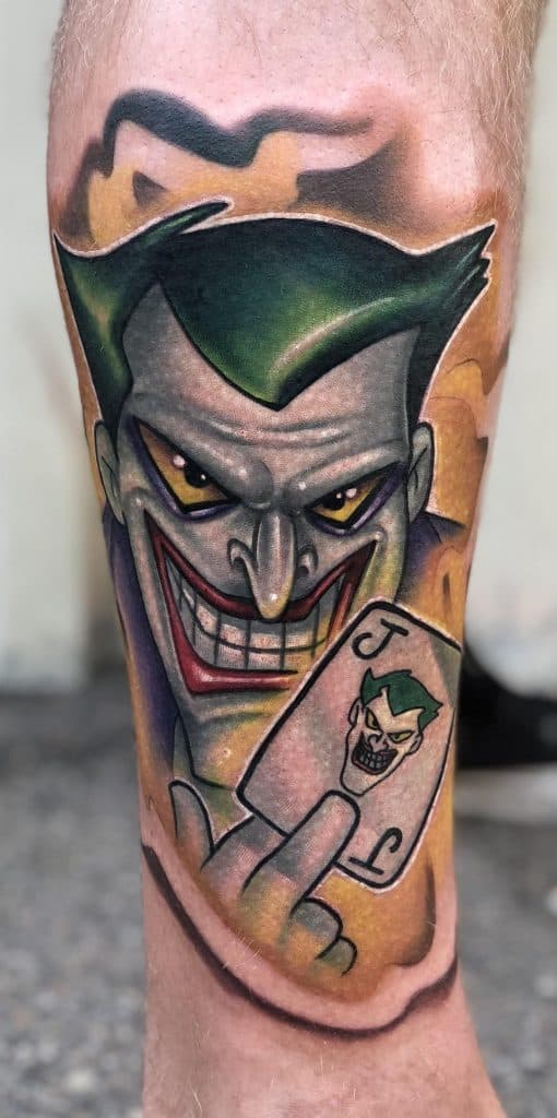 Joker Tattoo Card