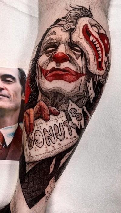 Joker Tattoo on Calf