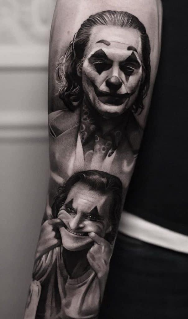 Joker Tattoo on Forearm