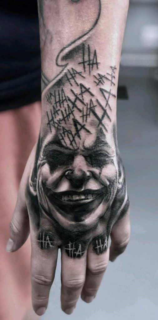 Joker Tattoo on Hand
