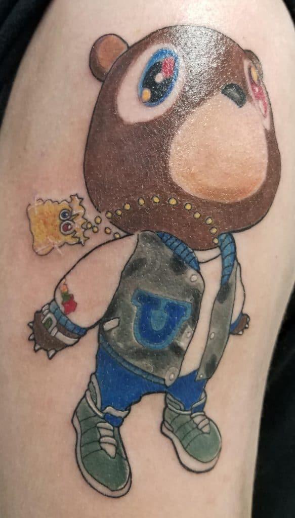 Kanye Bear Tattoo