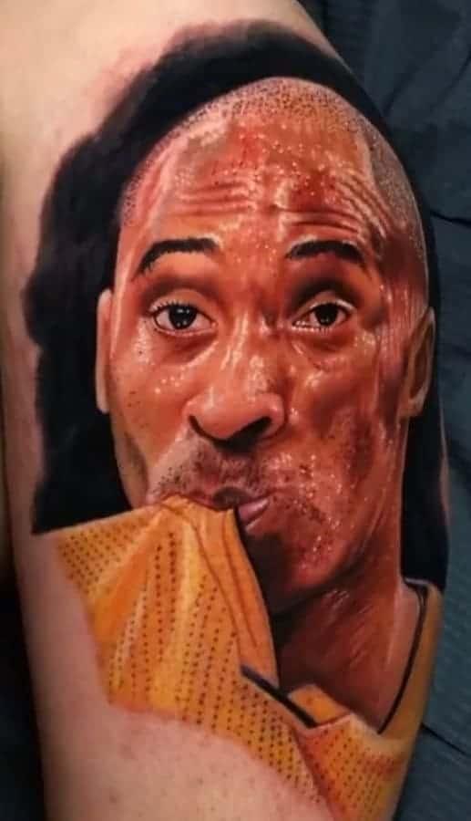 Kobe Bryant Portrait Tattoo