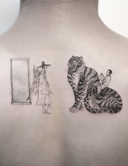 Korean Tiger Tattoo