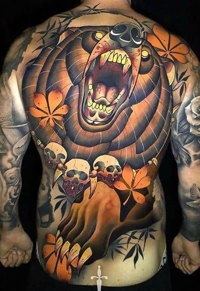 Large Bear Tattoo