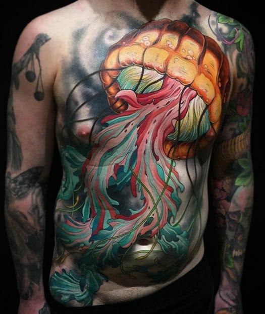 Large Jellyfish Tattoo