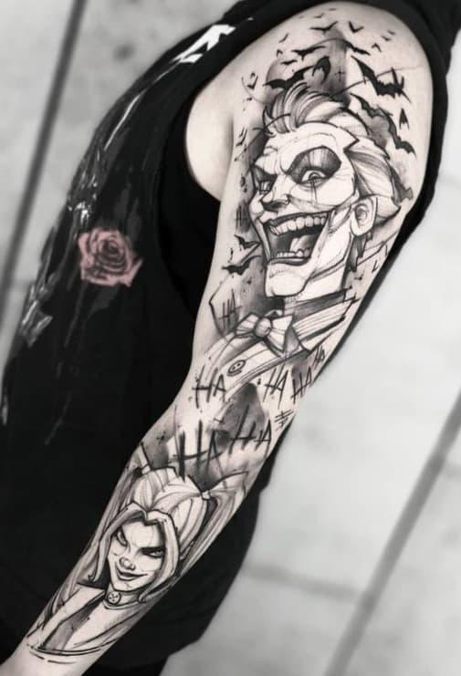 Large Joker Tattoo
