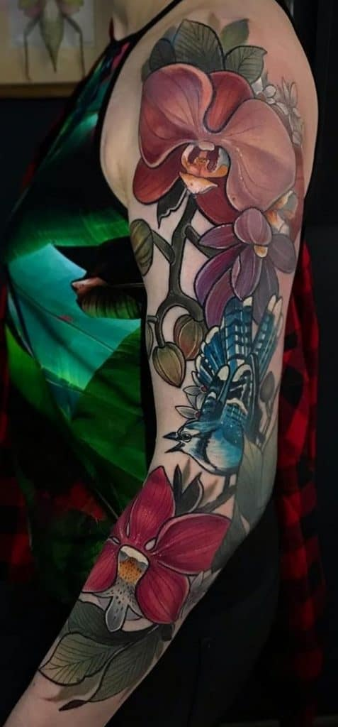 Large Orchid Tattoo