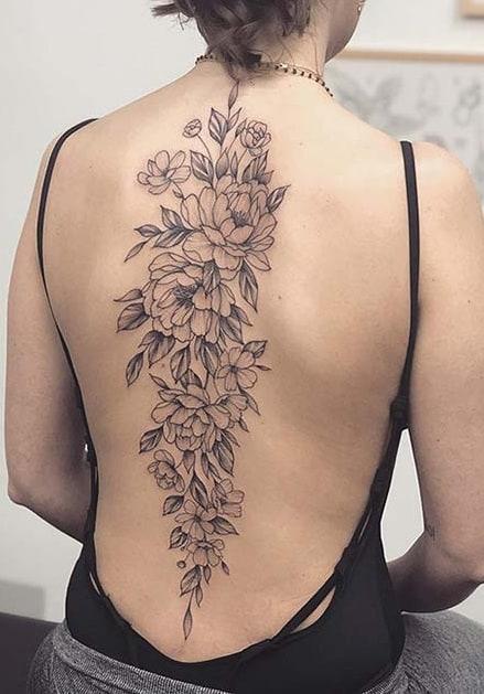 Large Peony Tattoo