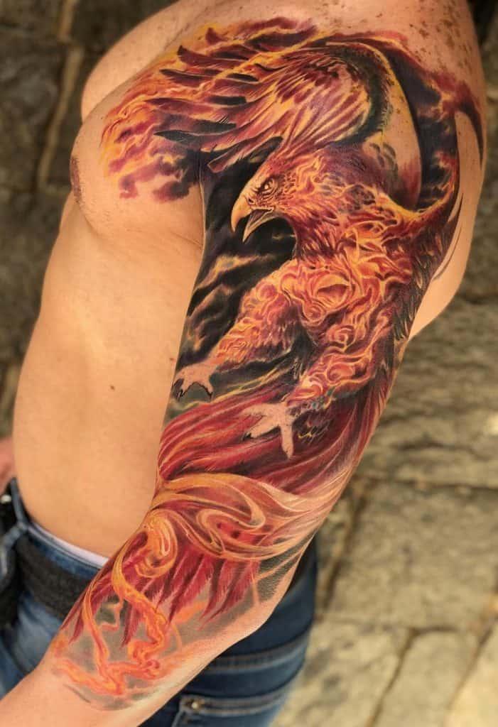 Large Phoenix Tattoo