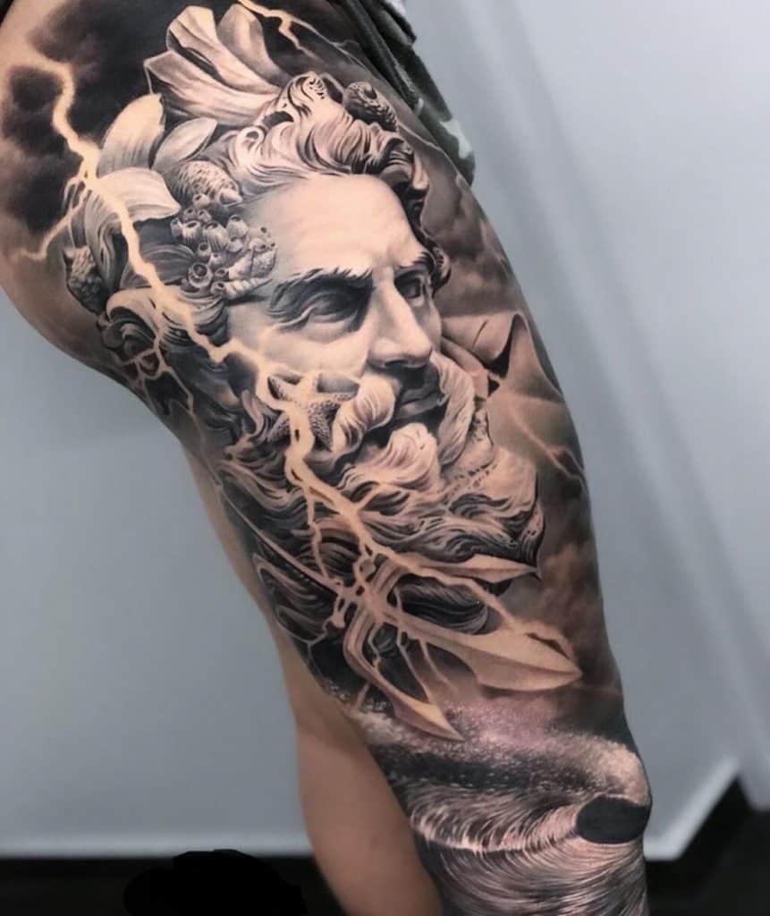 Large Poseidon Tattoo