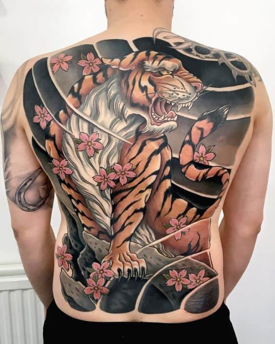 Large Tiger Tattoo