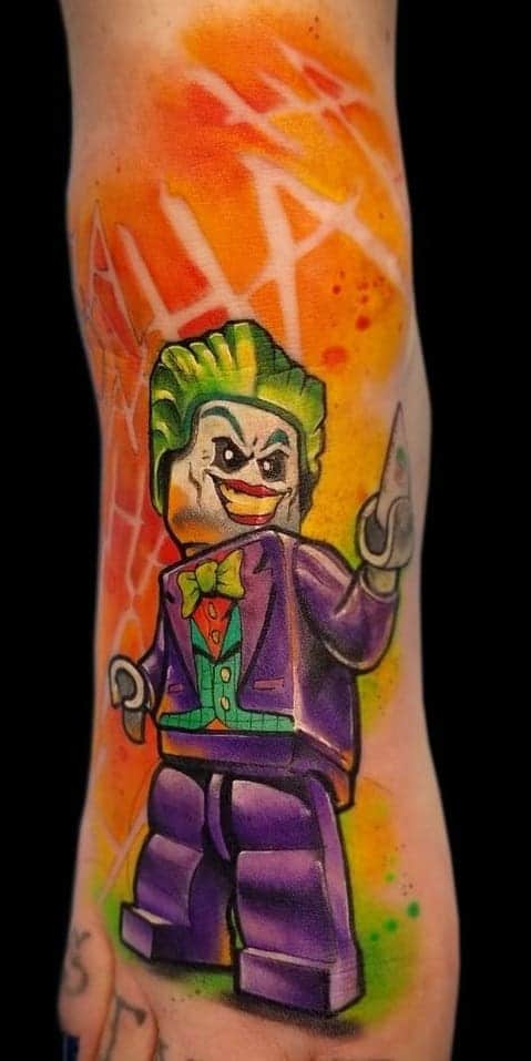 Lego Joker Tattoo