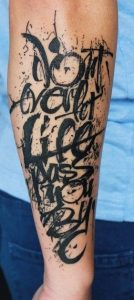 Lettering Sketch Tattoo