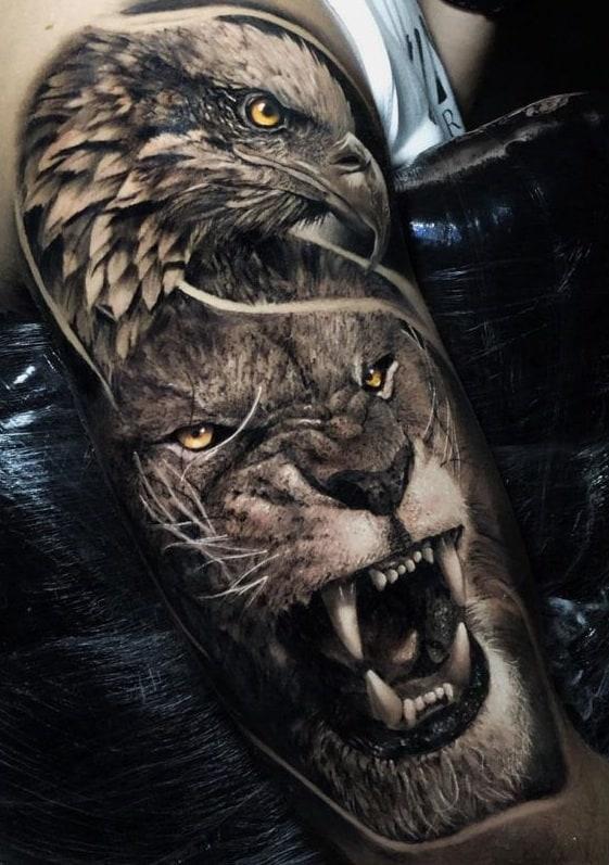 Lion & Eagle Tattoo