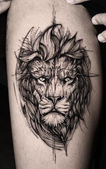 Lion Sketch Tattoo