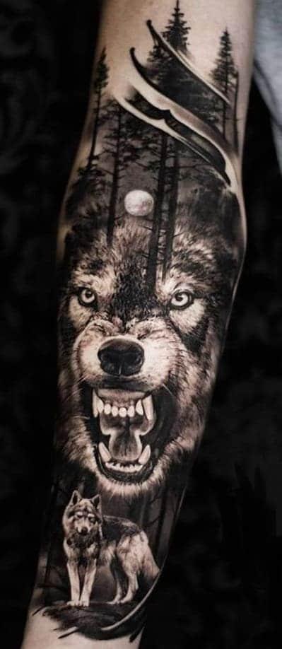 Lone Wolf Tattoo
