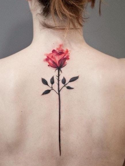 Flower with Stem Tattoo