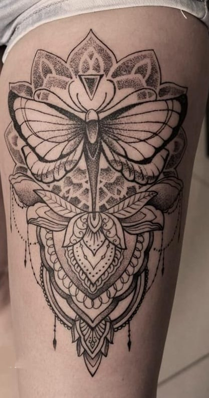 Mandala Butterfly Tattoo