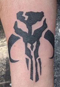 Mandalorian Skull Tattoo