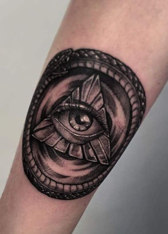 Masonic Ouroboros Tattoo