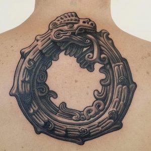 Mayan Ouroboros Tattoo