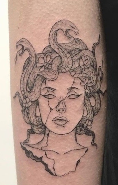 Medusa Statue Tattoo