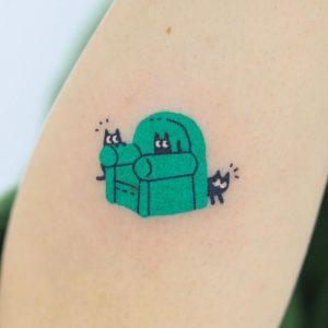 Minimalist Cat Tattoo