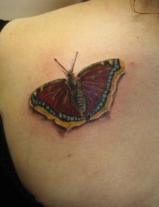 Mourning Cloak Butterfly Tattoo