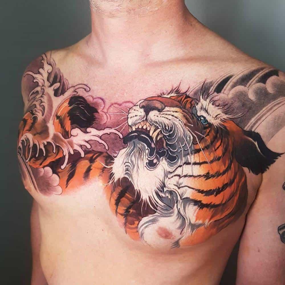 Neo-Japanese Tiger Tattoo