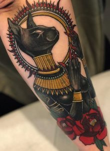 Neo-traditional Bastet Tattoo