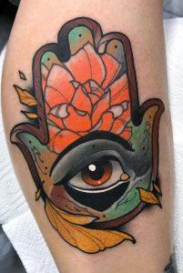 Neo-traditional Hamsa Tattoo