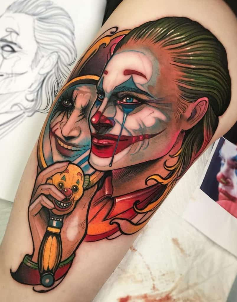 Neo-traditional Joker Tattoo